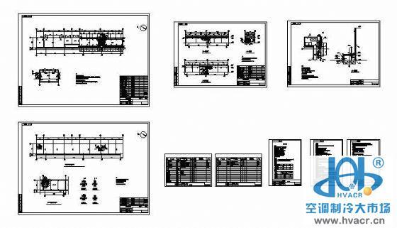 宁波某厂房配电室空调设计图纸