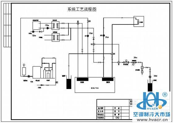 水源热泵流程图
