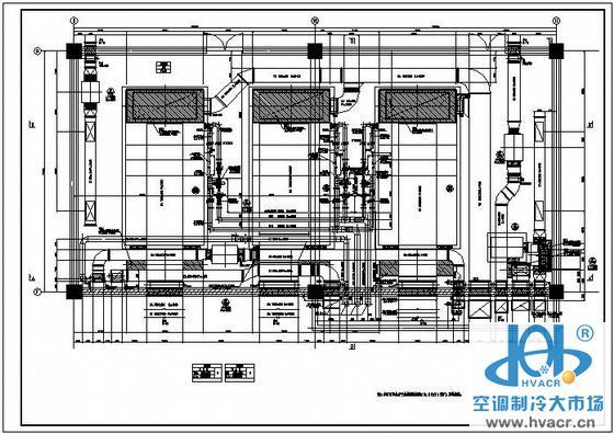 江苏某空调机房设计平面图_成套工程图下载