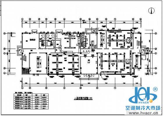 某办公楼空调设计平面图