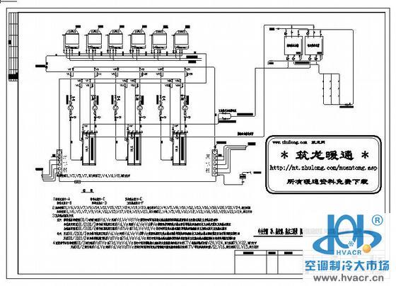 中央空调三联供机房管路系统图