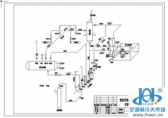 氨冷冻盐水机组工艺流程图