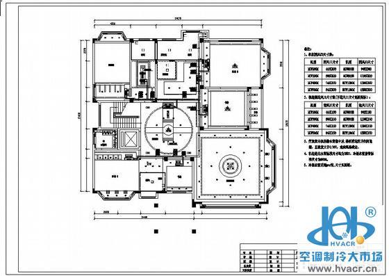 别墅空调设计图纸