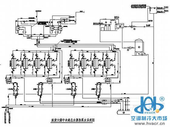 某政府办公大楼水源热泵机房施工图纸