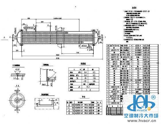 水汽换热器设计图纸-暖通设备及末端节点图