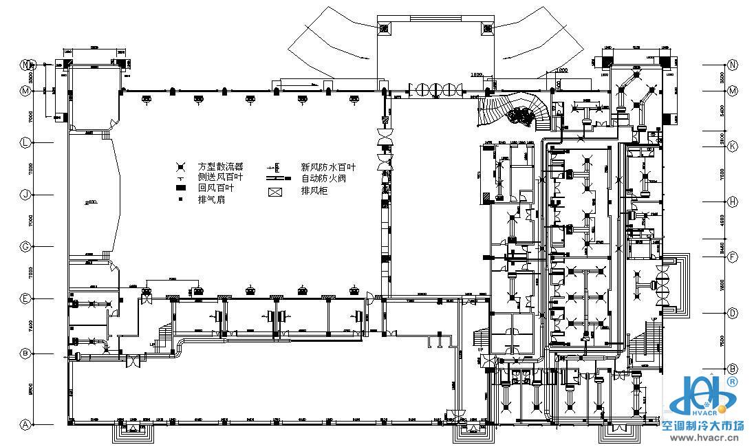 东莞某酒店空调设计图_成套工程图下载