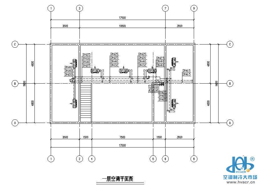 某餐馆空调设计图_成套工程图下载