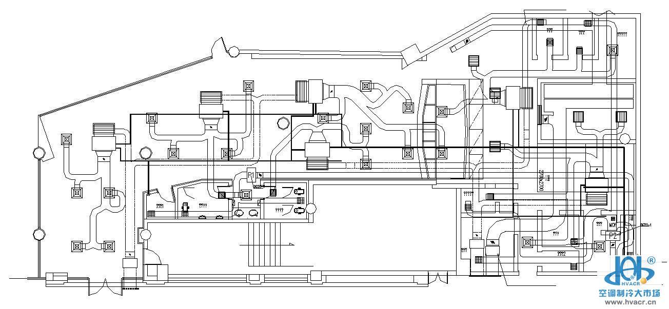 1000平米快餐店平面设计图展示