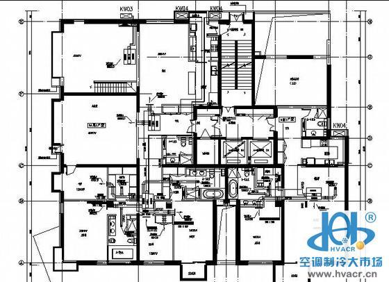 住宅户式中央空调设计图纸