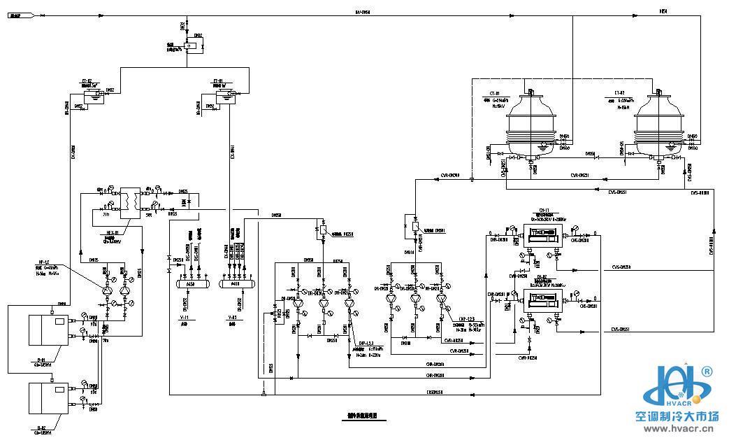 制冷系统原理图-暖通空调节点图