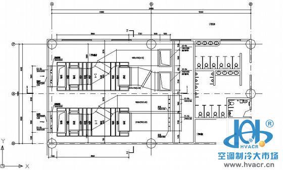 呼和浩特某机场空调机房设计图