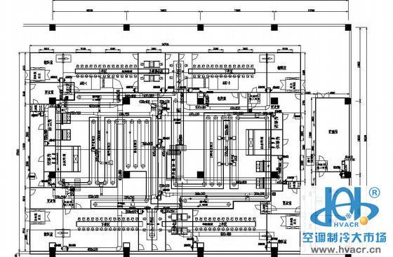 广东某喷涂车间洁净空调平面图