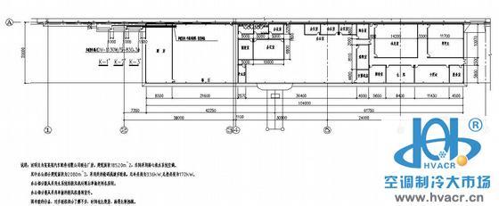 某汽车配件厂房及办公楼空调平面图
