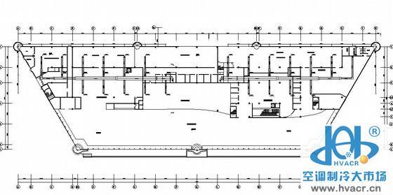 某机场航站楼空调平面图