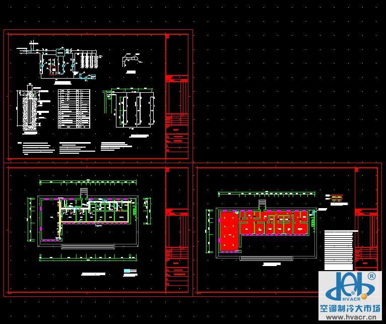别墅地暖空调施工图_设计图例下载
