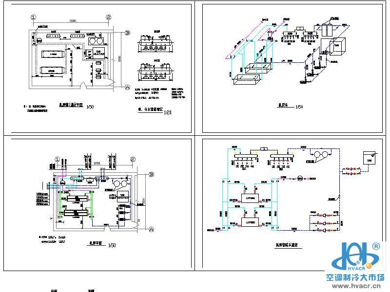 宾馆水源热泵机房图