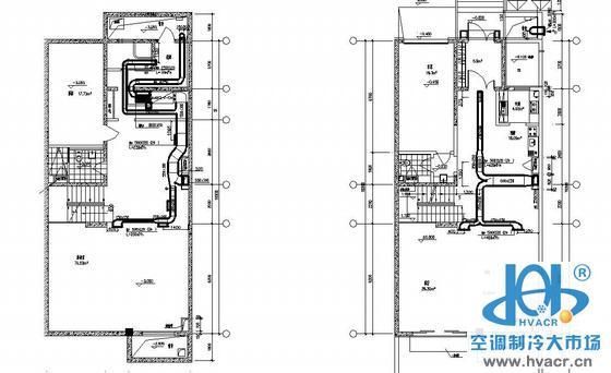 风管机户式中央空调图纸_成套工程图下载